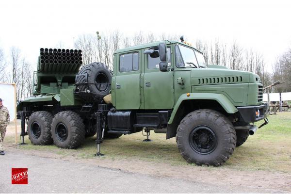 БМ-21У «Верба» - Реактивная система залпового огня. (Украина)
