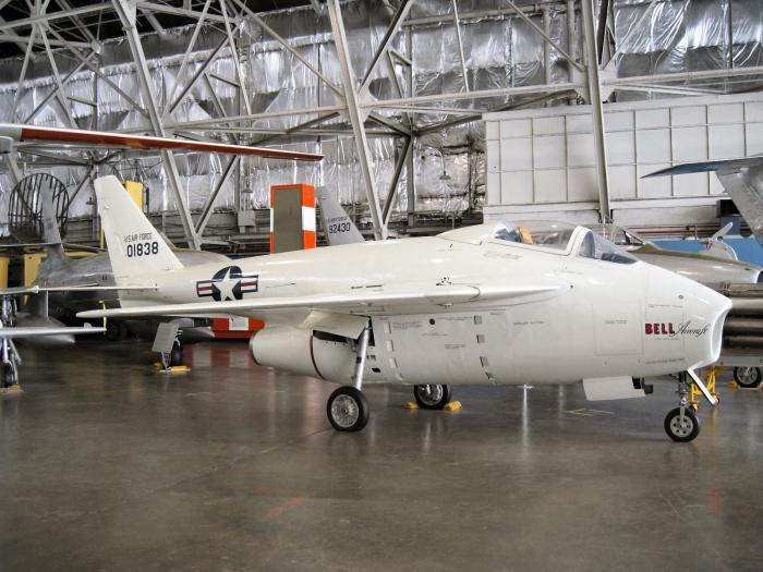 Bell X-5. Экспериментальный реактивный самолет. (США)