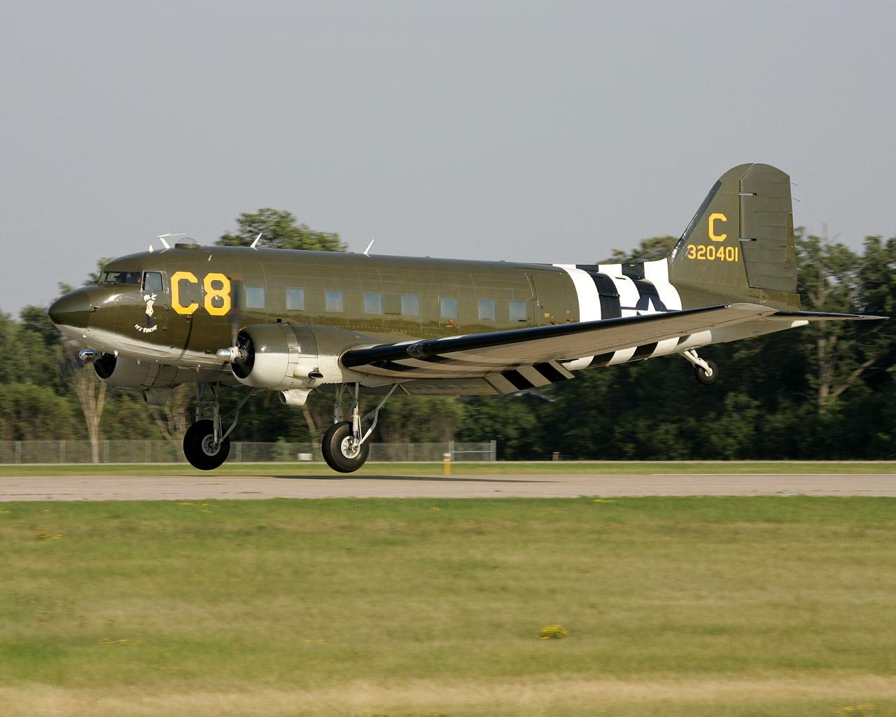 Обои Дуглас c-47, американский. Авиация foto 19