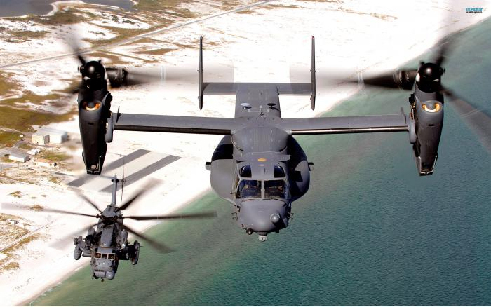 Bell V-22 Osprey. Транспортный конвертоплан. (США)